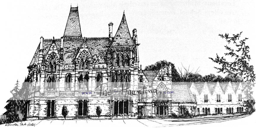 Book: British Horror Film Locations, page 128, Ettington Park drawing close-up