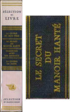 le secret du manoir hanté, france, reader's digest #1, 1961, spine