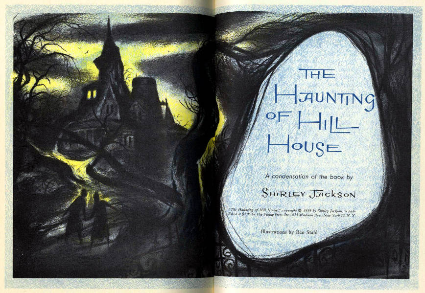 the haunting of hill house, usa, 1960 readers digest edition, illustrations by Ben Stahl #1