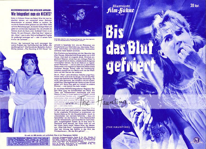 The Haunting, 1963, MGM Germany, 2-fold, 2-sided booklet, front