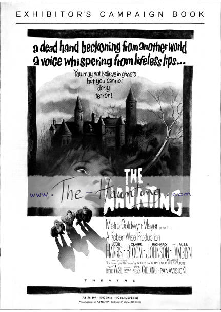 The Haunting, 1963, MGM USA, Campaign book, cover