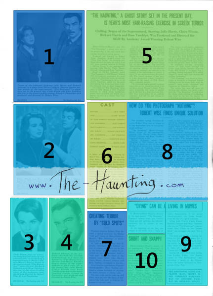 The Haunting, 1963, MGM USA, Campaign book, page 2, layout description
