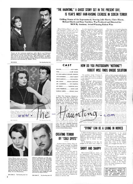The Haunting, 1963, MGM USA, Campaign book, page 2