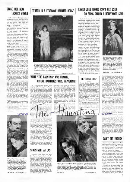 The Haunting, 1963, MGM USA, Campaign book, page 3