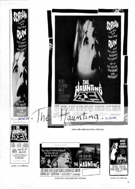 The Haunting, 1963, MGM USA, Campaign book, page 5