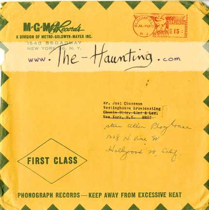 The Haunting, 1963, Lalo SCHIFRIN, 7inch, Promo, UK, MGM 1218, Enveloppe