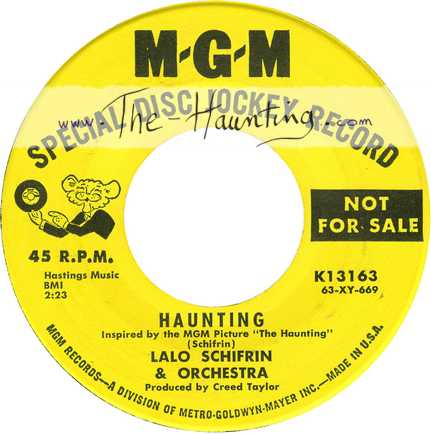 The Haunting, 1963, Lalo SCHIFRIN, 7inch, Promo, USA, MGM K13163, Side 1